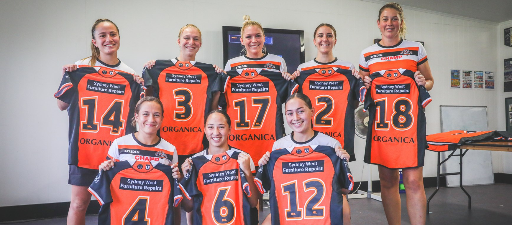 Wests Tigers women presented with debut jerseys