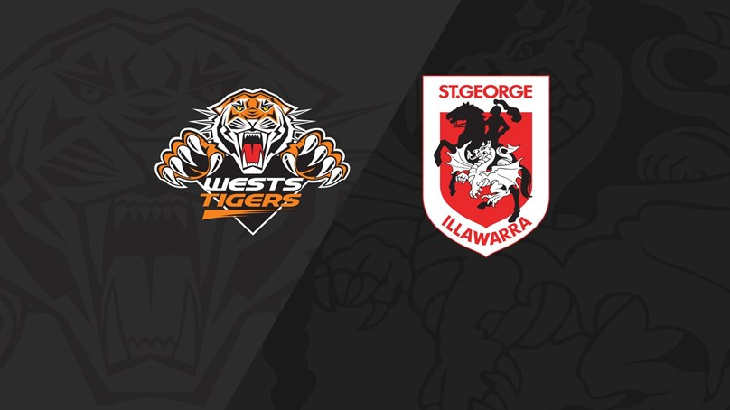 Full Match Replay: Wests Tigers v Dragons - Round 23, 2018