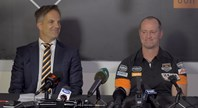 Michael Maguire's first press conference at Wests Tigers