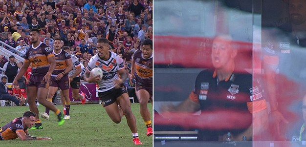 Watch Michael Maguire cheer the winning try!