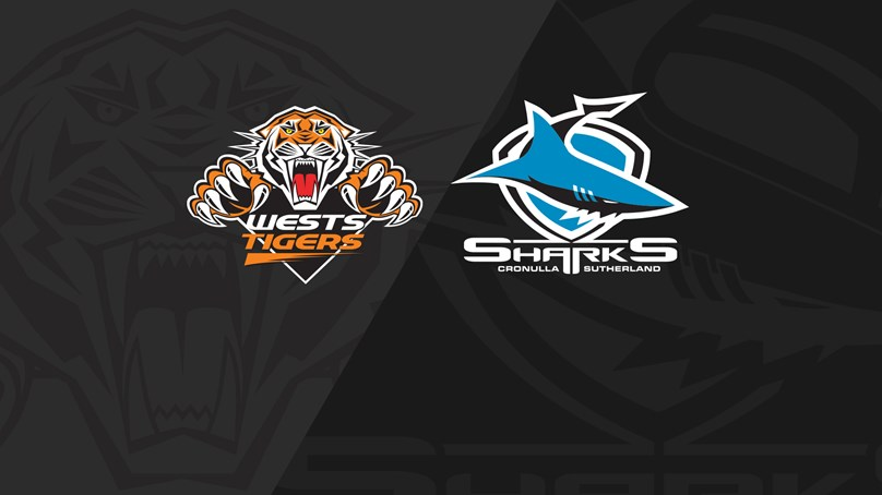 Full Match Replay: Wests Tigers v Sharks - Round 25, 2019