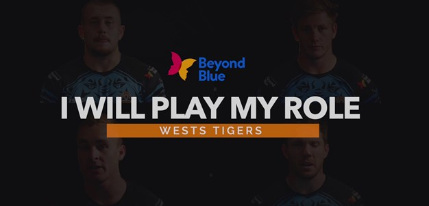 Wests Tigers and Beyond Blue: I will play my role