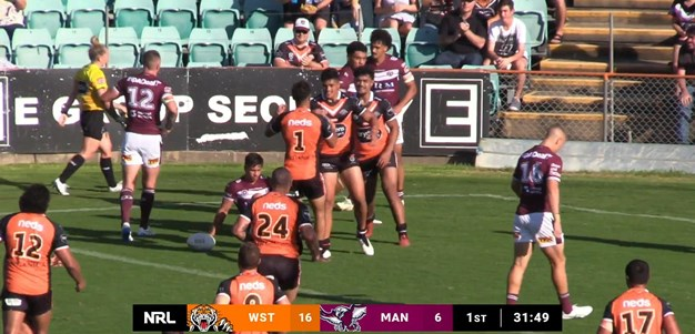 Left edge continues to fire for Wests Tigers as Talau scores