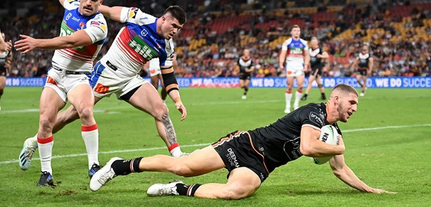 Douiehi adds another one as Wests Tigers take advantage of extra man