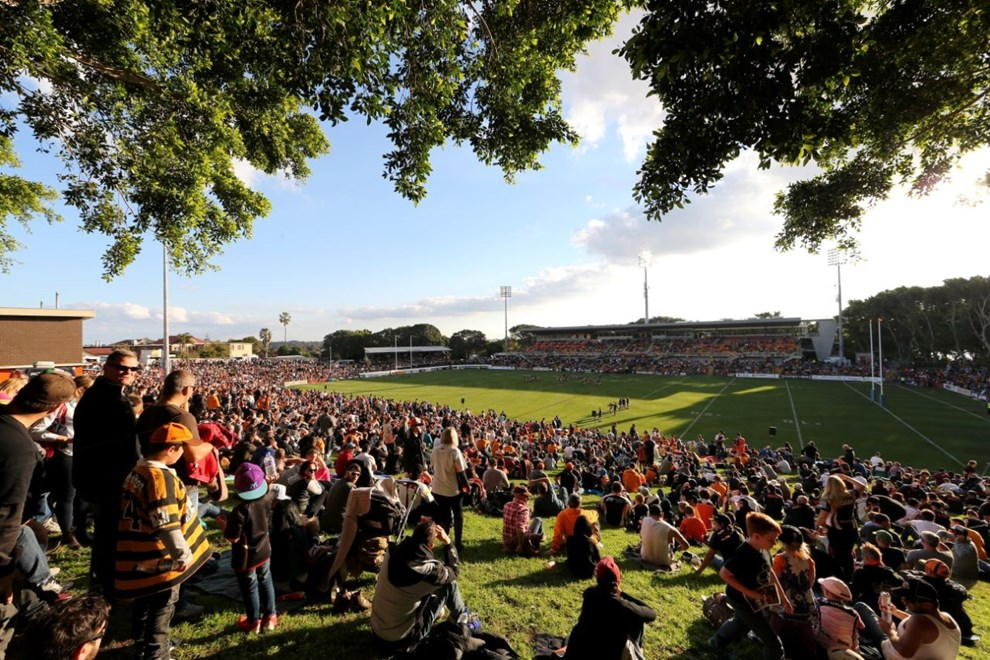 Leichhardt Oval :Digital Image Grant Trouville © NRLphotos  : NRL Rugby League Round 16 - Wests Tigers v Penrith Panthers at Leichhardt Oval, Sunday Afternoon June 28th June  2015.