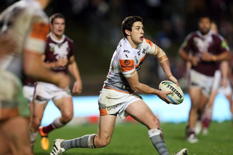 Mitchell Moses : Digital Image by Robb Cox ©nrlphotos.com:  :NRL Rugby League - Manly-Warringah Sea Eagles Vs Wests Tigers, at Brookvale Oval, Friday June 19th 2015.