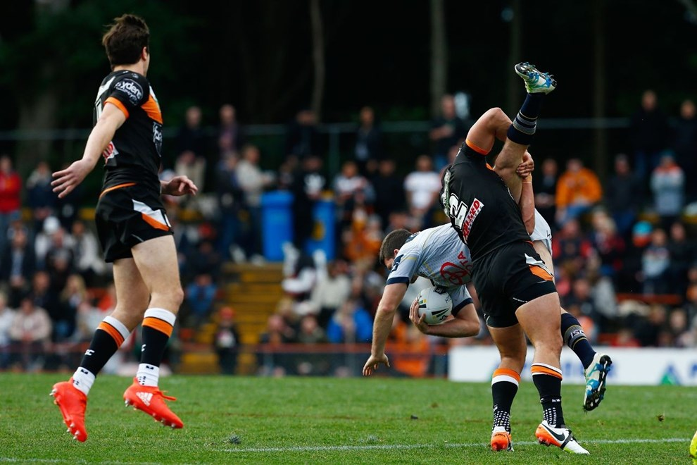 NRL Premiership - Round 22 - Wests Tigers V North Queensland Cowboys - 7 August 2016 - Leichhardt Oval, Sydney, NSW - Steve Christo