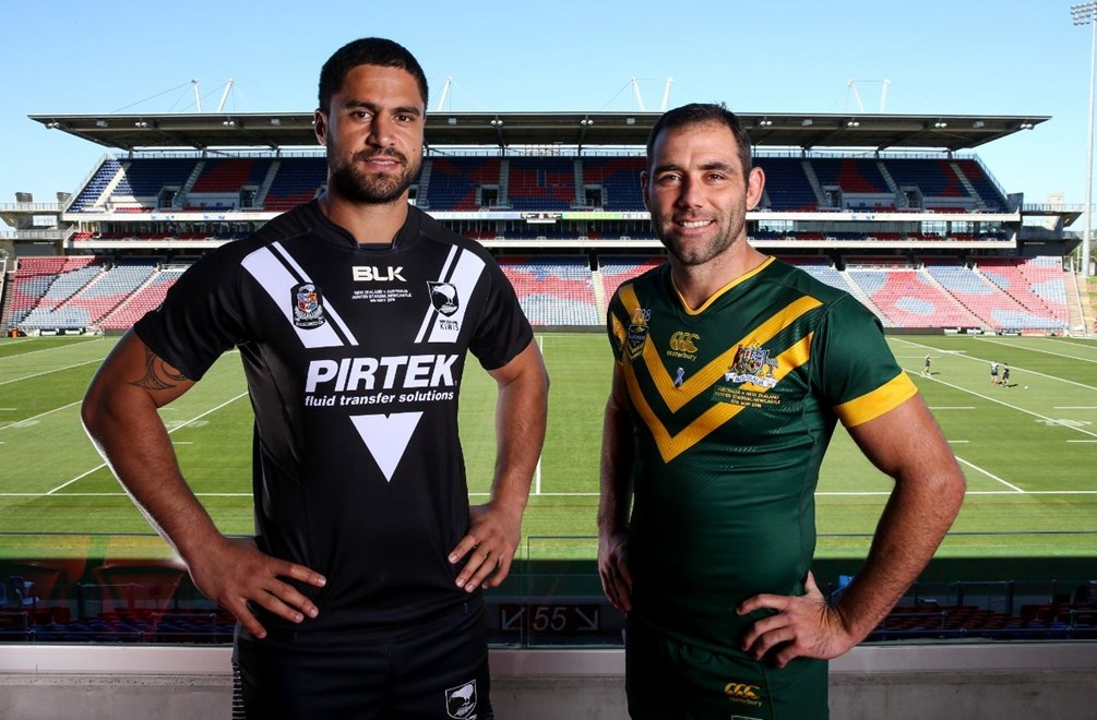 2016 Australian Kangaroos and and New Zealand Team Runs, and Peess Confernce at Hunter Stadium NEwcastle.