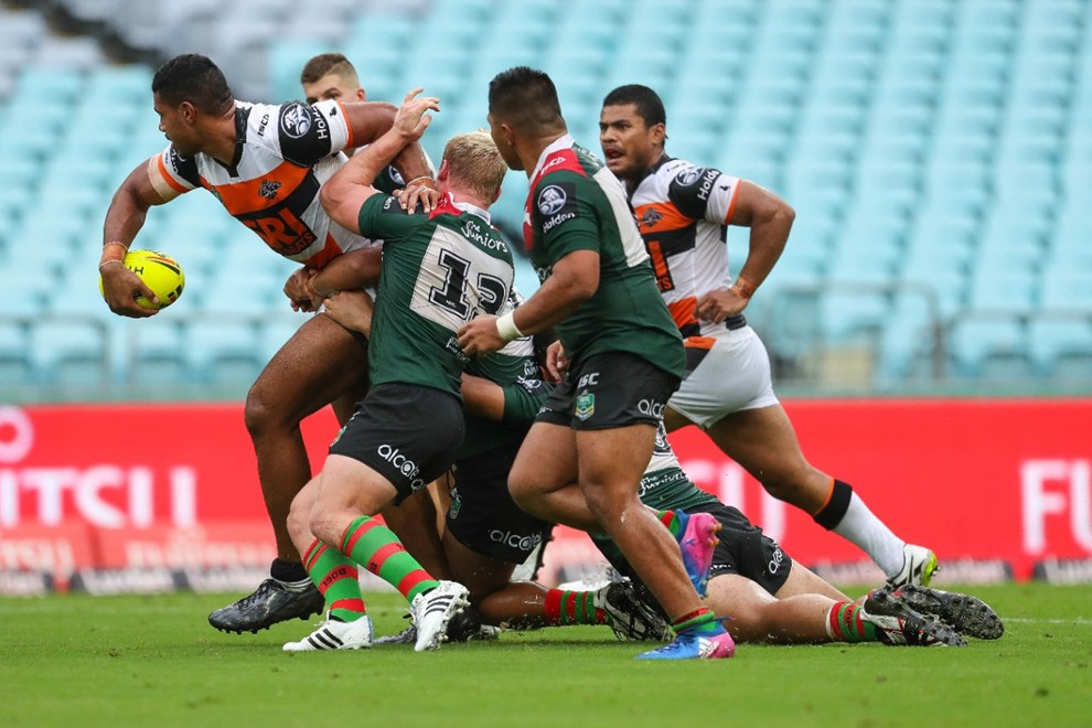 Competition - NYC. Round - Round 1. Teams - South Sydney Rabbitohs v Wests Tigers. Date - 3rd of March 2017. Venue - ANZ Stadium