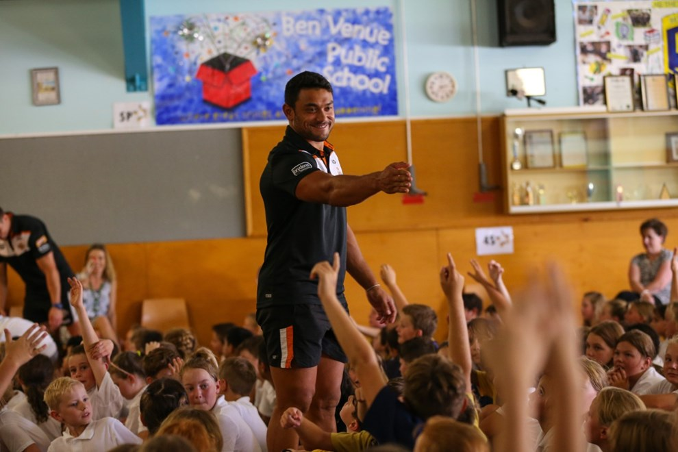 The NRL Community Carnival visits Armidale on Wednesday 1st of February 2017. Location: University of Armidale / Indigenous Leadership Workshop | Digital Image: Paul Barkley © NRL Photos