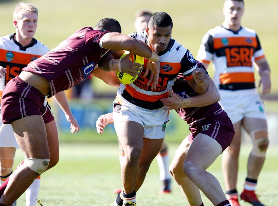 Round 19 Holden Cup  Manly Sea Eagles vs Wests Tigers at Lotto Land , Brookvale   . Picture : Gregg Porteous