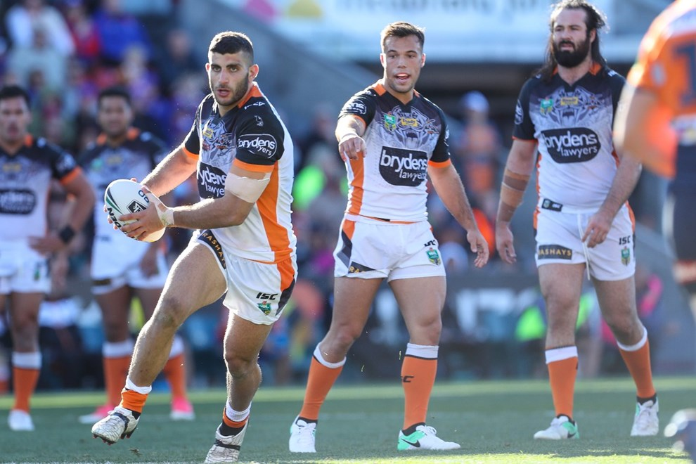 Competition - NRL. Round - Round 17. Teams - Newcastle Knights v Wests Tigers. Date - 2nd of July 2017. Venue - McDonald Jones Stadium