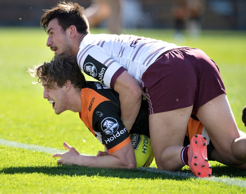 R 23 Holden Cup Wests Tigers vs Manly Sea Eagles at Leichhardt Oval . Picture : Gregg Porteous