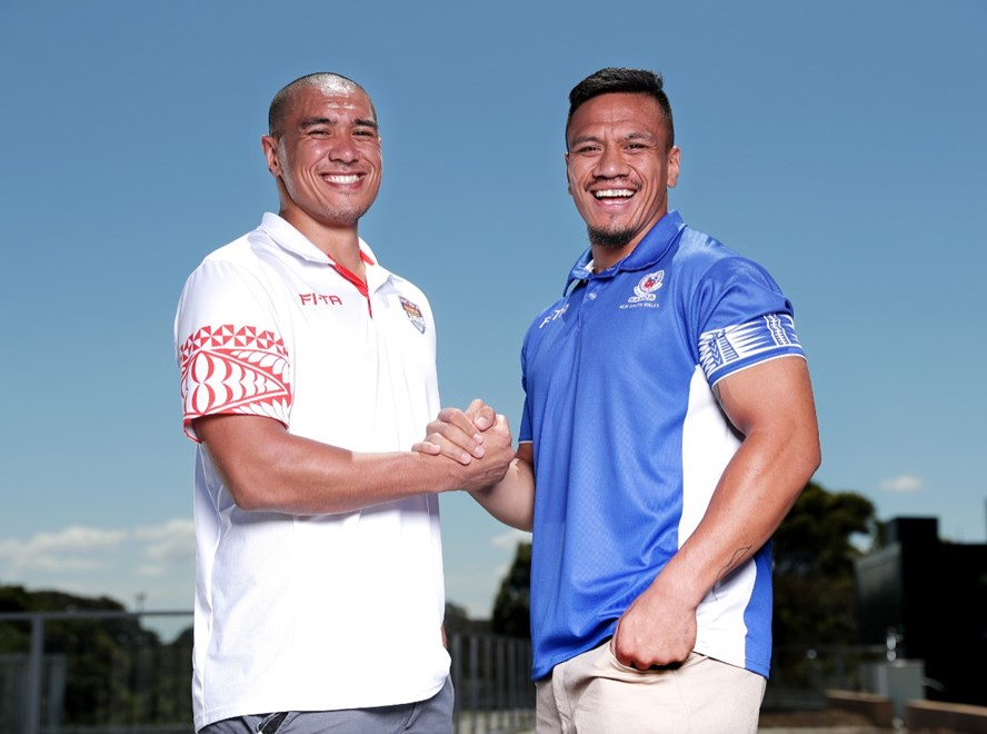 2018 Pacific Test Invitational Announcement . Leilani Latu (Tonga) and Sauaso Sue (Samoa).Picture : NRL Photos/Gregg Porteous