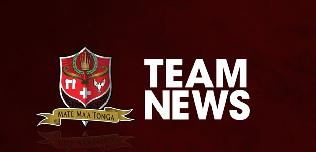 Lolohea named in halves for Tonga