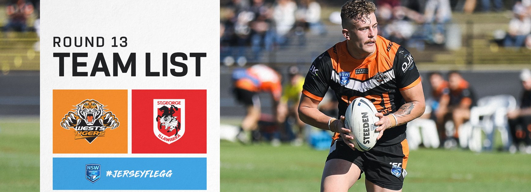 Jersey Flegg Team Announcement: Round 13