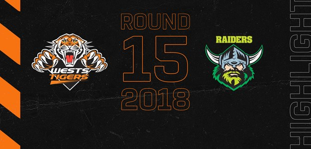 2018 Match Highlights: Rd.15, Wests Tigers vs. Raiders