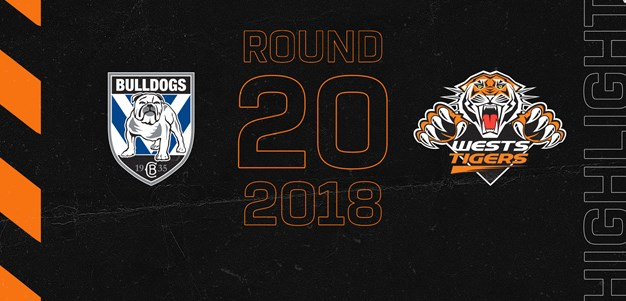 2018 Match Highlights: Rd.20, Bulldogs vs. Wests Tigers