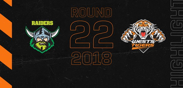 2018 Match Highlights: Rd.22, Raiders vs. Wests Tigers