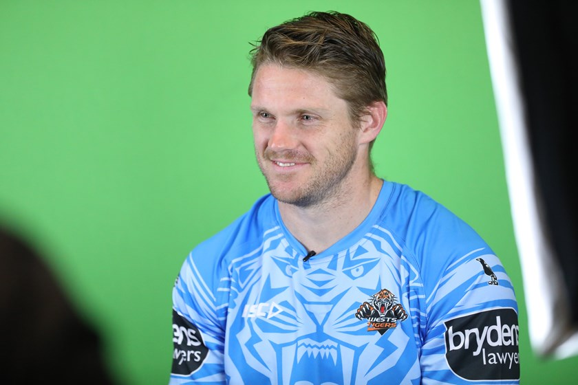 Wests Tigers forward and beyondblue ambassador Chris Lawrence.