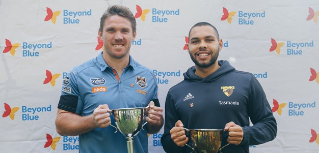 Wests Tigers join with Hawks to promote Beyond Blue Round