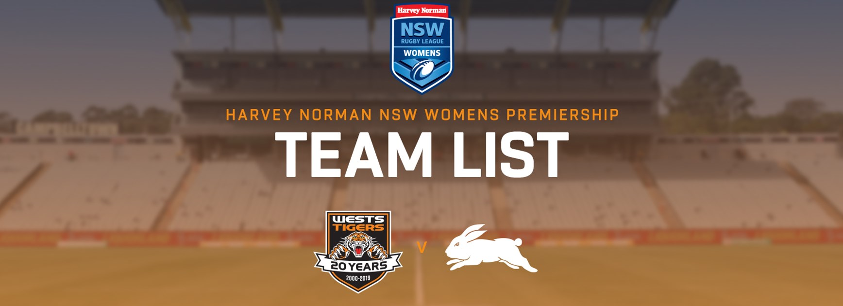 Harvey Norman NSW Women's Premiership Team Announcement: Round 15