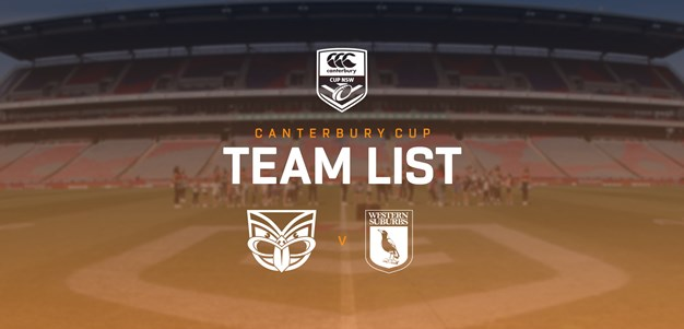 Canterbury Cup Team Announcement: Round 24