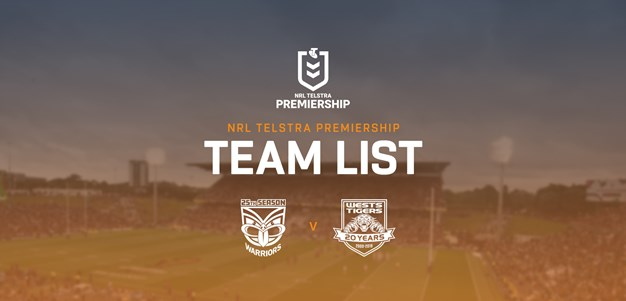 Wests Tigers name team for Warriors trial