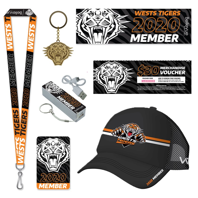 Wests Tigers 2020 Membership Core Pack