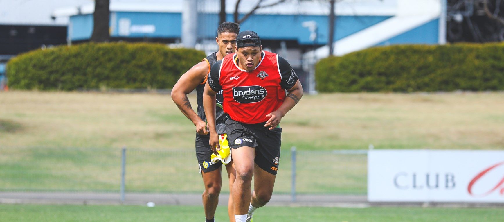 Luciano Leilua's first day at Wests Tigers