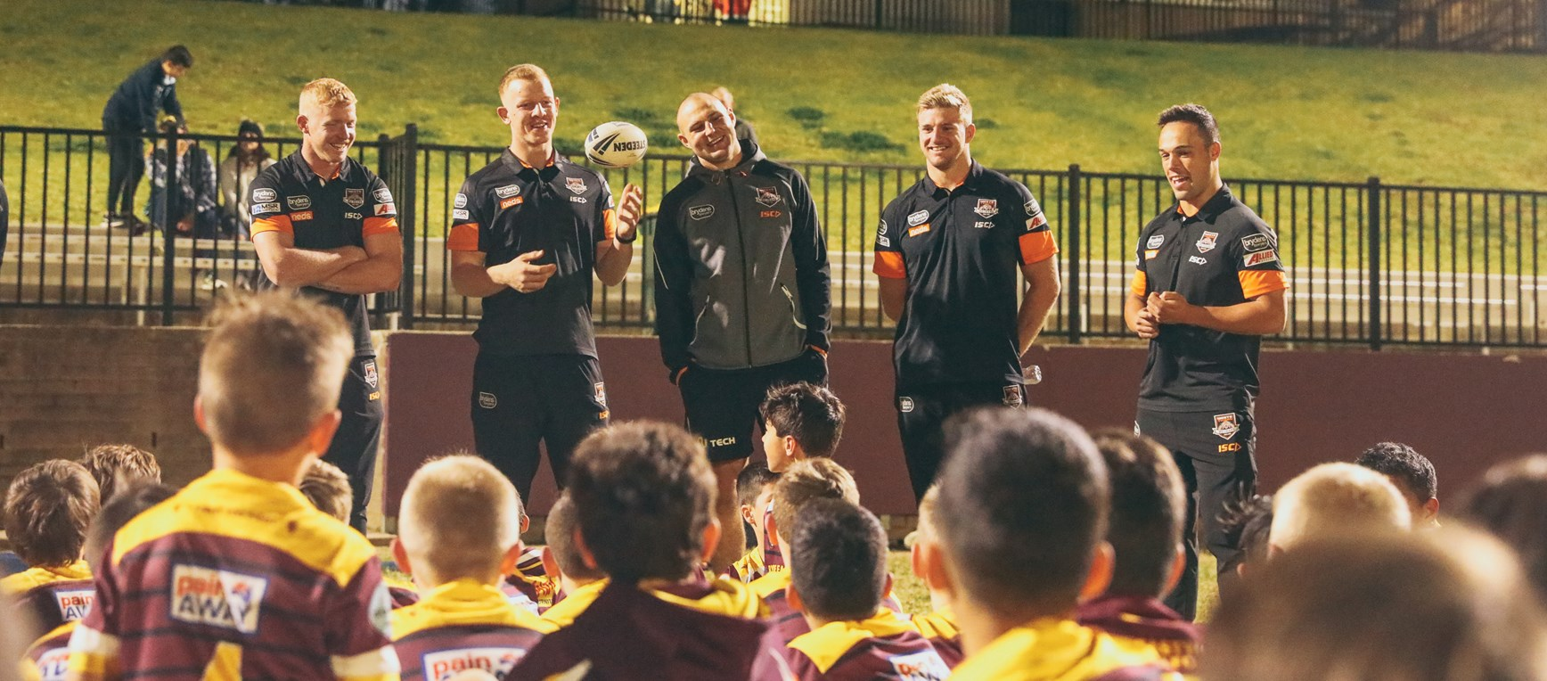 Wests Tigers at Junior Club Visits