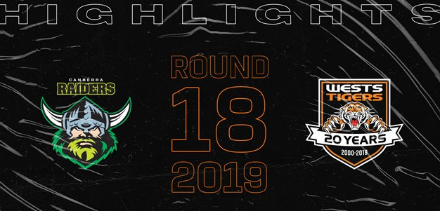 2019 Match Highlights: Rd.18, Raiders vs. Wests Tigers