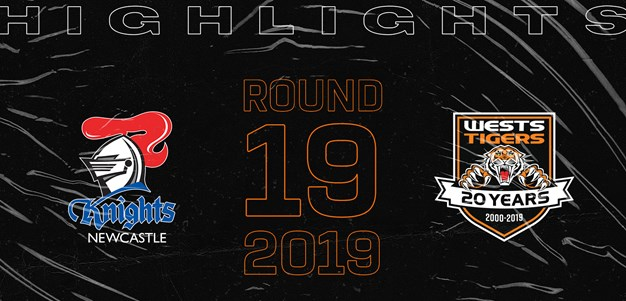 2019 Match Highlights: Rd.19, Knights vs. Wests Tigers