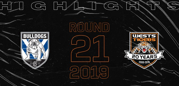 2019 Match Highlights: Rd.21, Bulldogs vs. Wests Tigers
