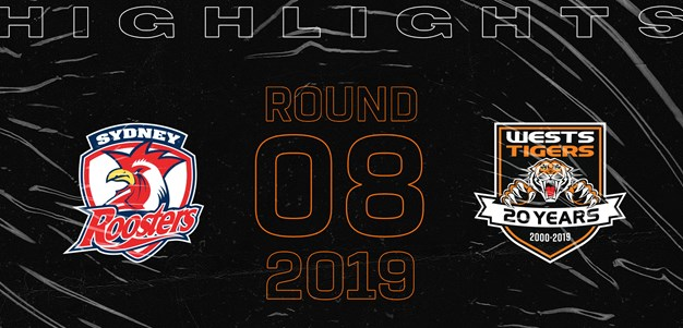 2019 Match Highlights: Rd.8, Roosters vs. Wests Tigers