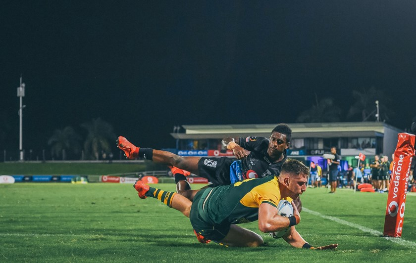 Paul Momirovski scored a try in his representative debut for the Prime Minister's XIII