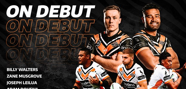 New faces set for Wests Tigers debuts