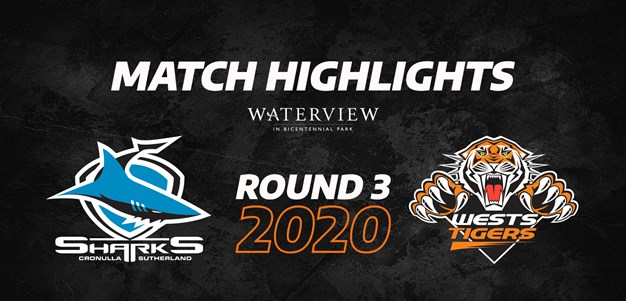 2020 Match Highlights: Rd.3, Sharks vs. Wests Tigers