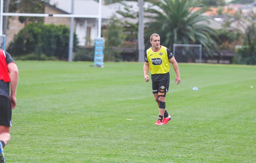 Wests Tigers hooker Jacob Liddle back in full team training