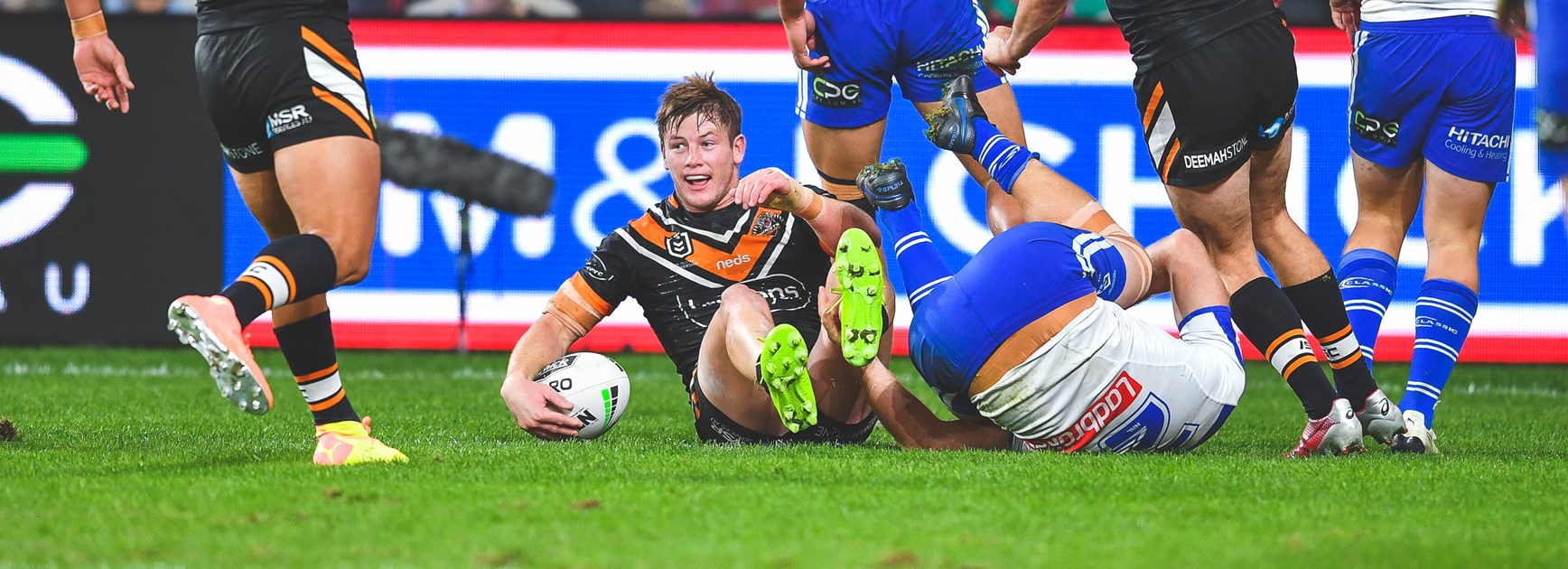 Wests Tigers fire in attack to big win over Bulldogs