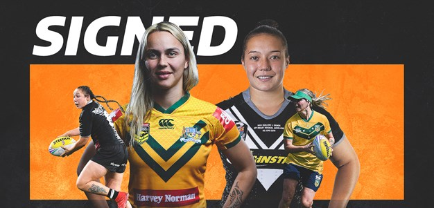 Wests Tigers sign international women's duo