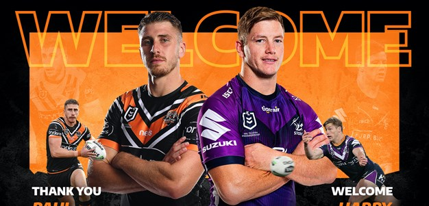 Wests Tigers sign Harry Grant in loan deal from Storm