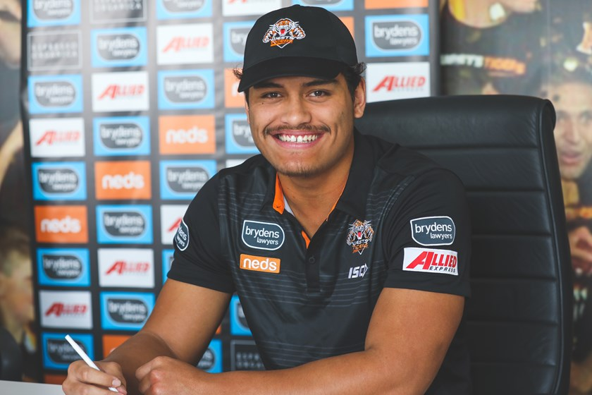 Wests Tigers forward Shawn Blore