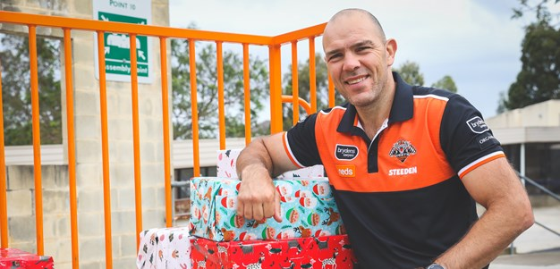 Wests Tigers spread Christmas cheer with annual toy drive