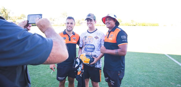 Join Wests Tigers for an open training session!