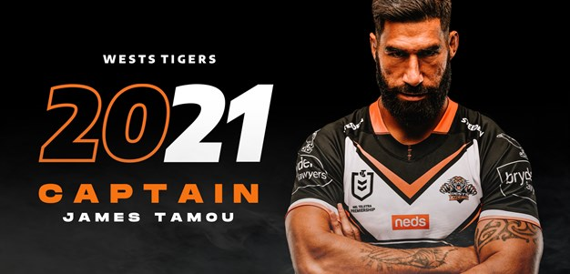 James Tamou named as Wests Tigers captain