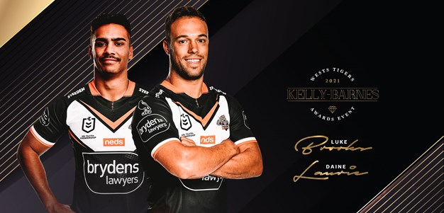 Laurie, Brooks joint winners of Wests Tigers big award