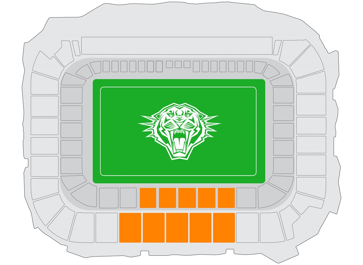 Bankwest Stadium - Premium Reserved seating map