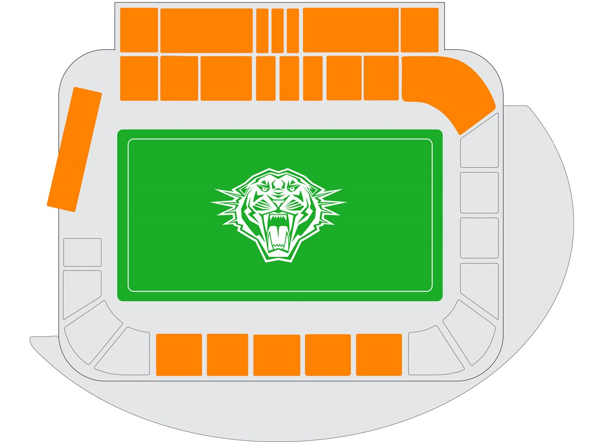 Leichhardt Oval - Premium Reserved seating map
